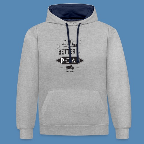 Moto - Life is better on the road - Sweat-shirt contraste