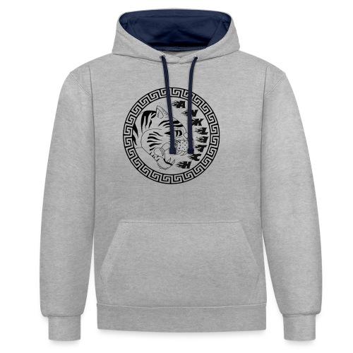 Anklitch trui grijs - Contrast hoodie