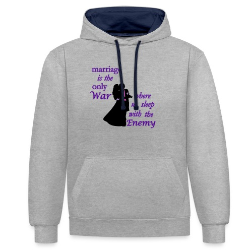 marriage_funny tshirts - Contrast Colour Hoodie