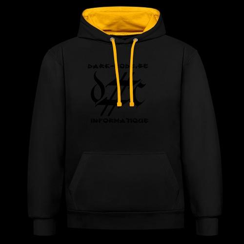 Dark-Code Black Gothic Logo - Sweat-shirt contraste