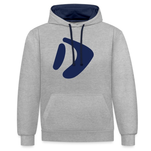Logo D Blue DomesSport - Kontrast-Hoodie