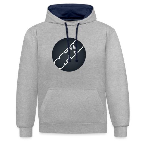 opiko Logo S/W - Kontrast-Hoodie