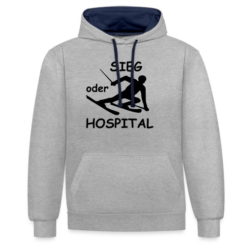 Sieg oder Hospital - Kontrast-Hoodie