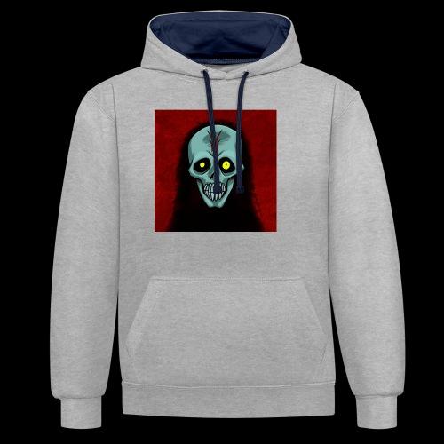 Ghost skull - Contrast Colour Hoodie