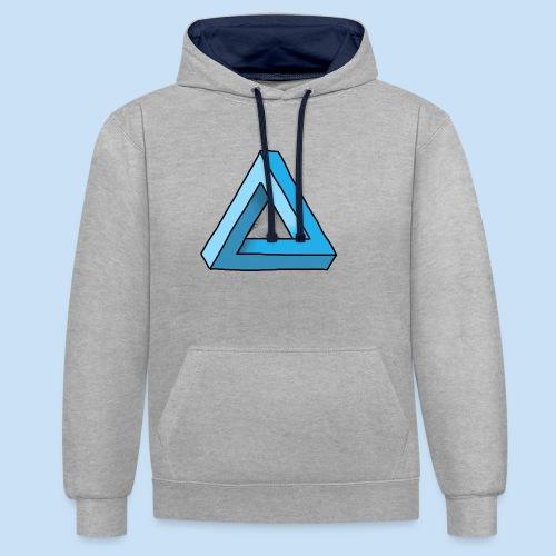 Triangular - Kontrast-Hoodie