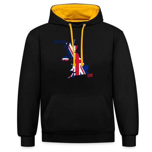 hello UK Kollektion - Kontrast-Hoodie