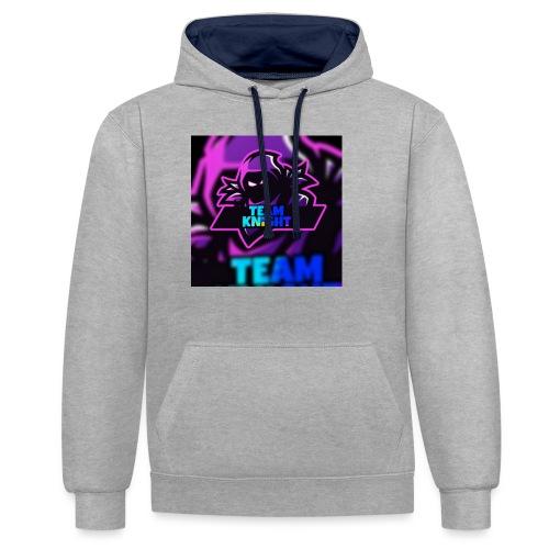 team knight aleen van voor - Contrast hoodie