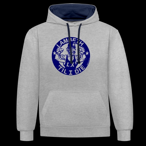 LAMBETH - NAVY BLUE - Contrast Colour Hoodie