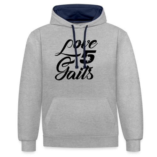 Love 5Gaits - Contrast Colour Hoodie