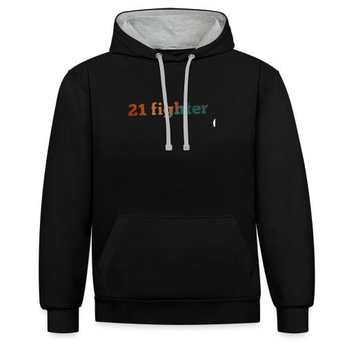 21 fighter - Contrast Colour Hoodie
