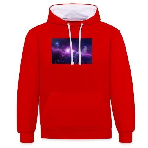 tshirt galaxy - Sweat-shirt contraste