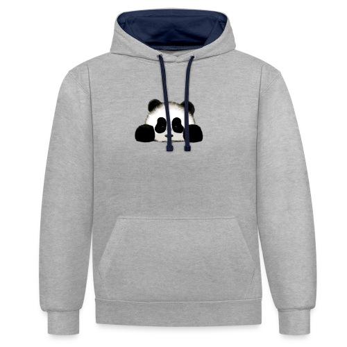 panda - Contrast Colour Hoodie