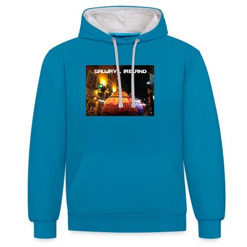 GALWAY IRELAND MACNAS - Contrast Colour Hoodie