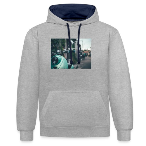 KEMOT_ - Bluza z kapturem z kontrastowymi elementami