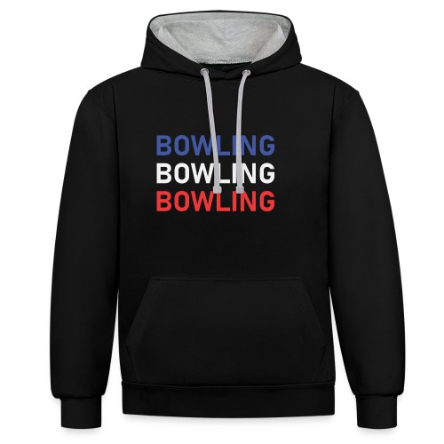 Bowling Bleu Blanc Rouge - Sweat-shirt contraste