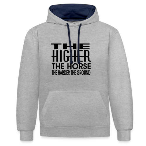 hoch2 - Kontrast-Hoodie