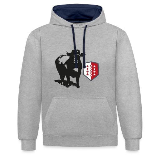 Vache - Cow - Kontrast-Hoodie