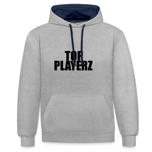 TopPlayer - Felpa con cappuccio bicromatica