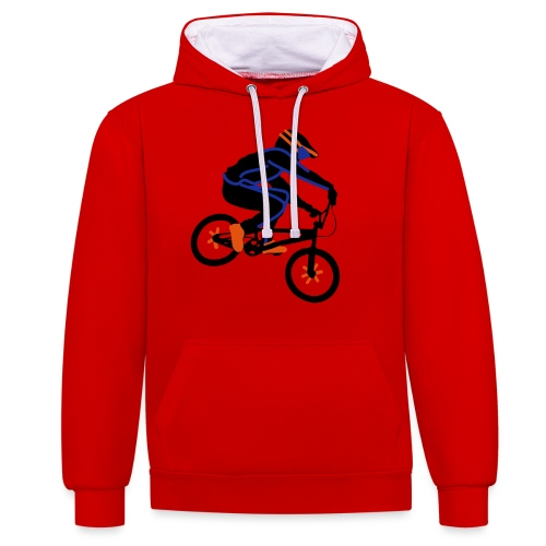 BMX Rider Dark - Contrast hoodie