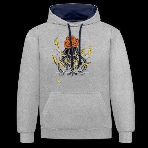 Rose octopus - Sweat-shirt contraste