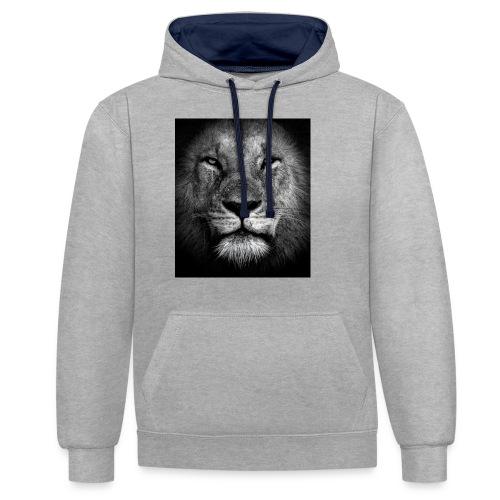 Lion Portrait - Sudadera con capucha en contraste