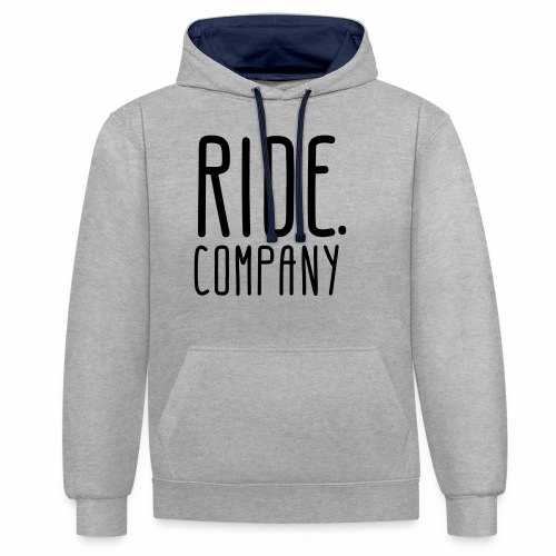 RIDE.company - just RIDE - Kontrast-Hoodie
