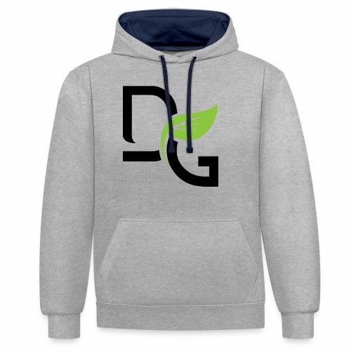 DrGreen Logo Symbol schwarz grün - Kontrast-Hoodie