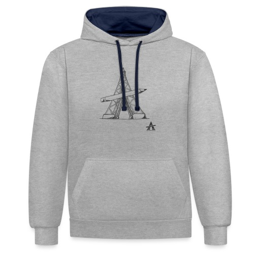 Tour Eiffel Crayon - Sweat-shirt contraste