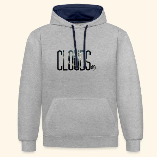 Clouds 02 - Kontrast-Hoodie