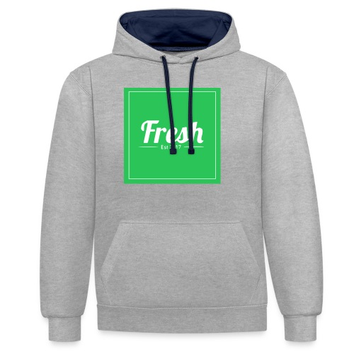 Green square - Contrast Colour Hoodie