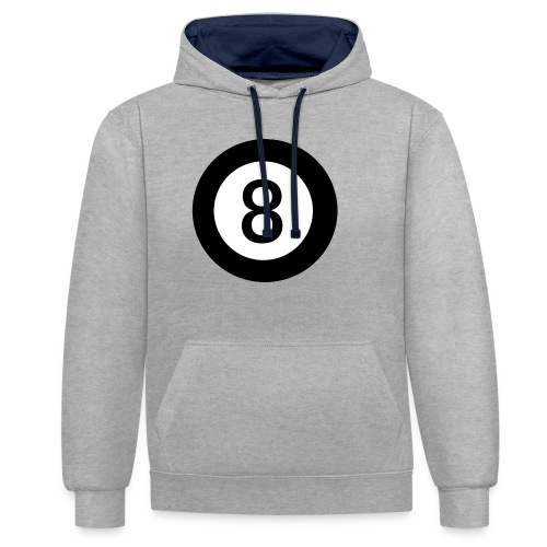 Black 8 - Contrast Colour Hoodie