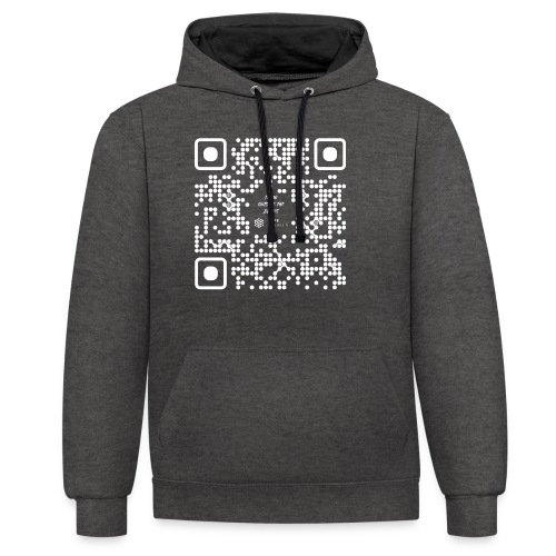 QR The New Internet Should not Be Blockchain Based W - Contrast Colour Hoodie
