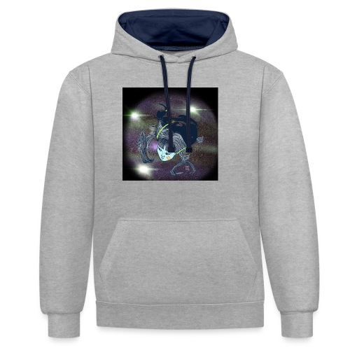the Star Child - Contrast Colour Hoodie