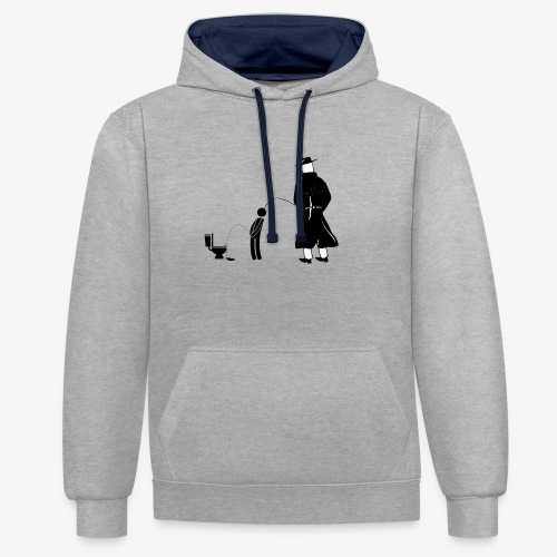 """Pissing Man against """"I can not piss properly guy"""" - Kontrast-Hoodie"""