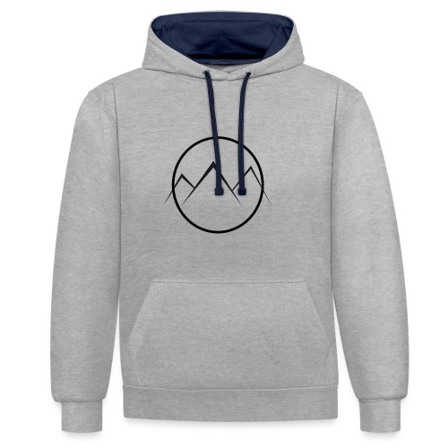 World of Mountains - Contrast Colour Hoodie