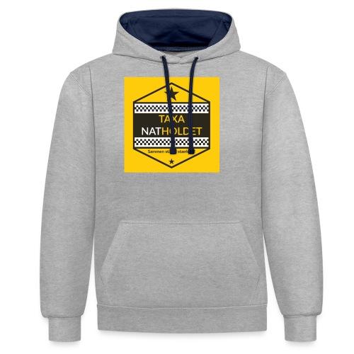 Taxa Natholdet Logo - Kontrast-hættetrøje