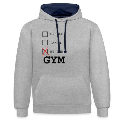 single taken gym - Contrast hoodie