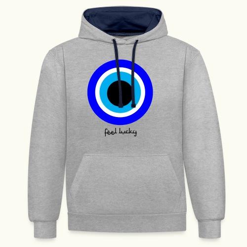 luck eye - Contrast hoodie