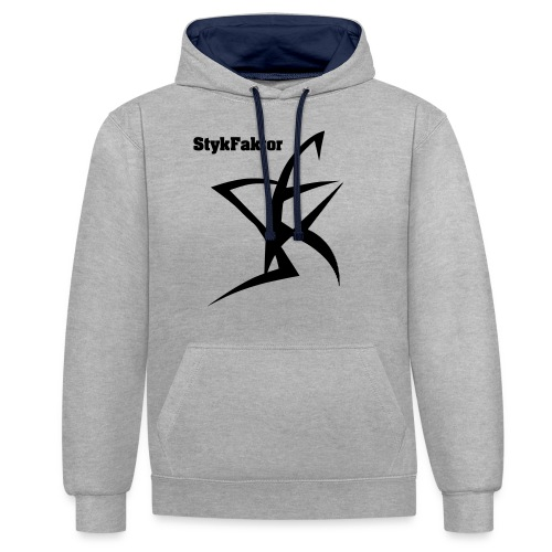 SykFaktor : Muscle Shirt - Kontrast-Hoodie