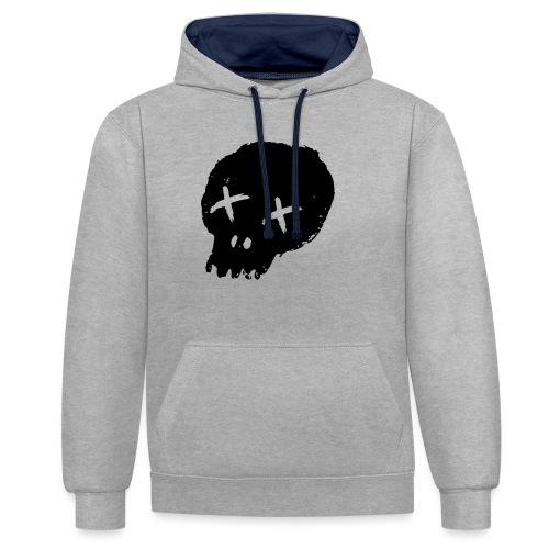 blackskulllogo png - Contrast Colour Hoodie