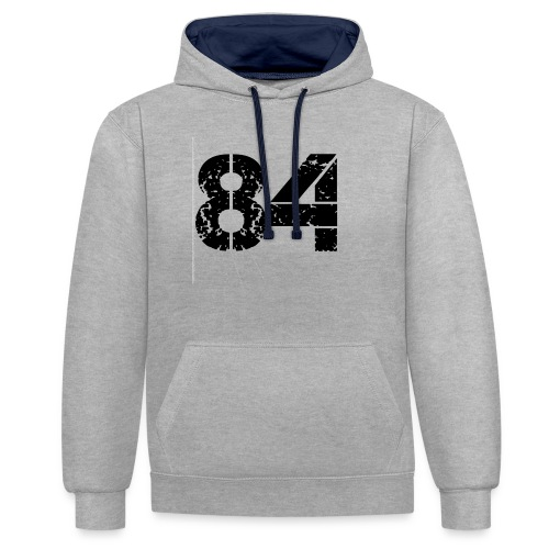 84 vo t gif - Contrast hoodie