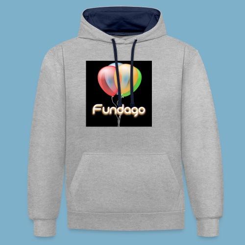 Fundago Ballon - Kontrast-Hoodie