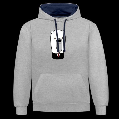 officel_polarbear_shop_logo - Kontrast-hættetrøje