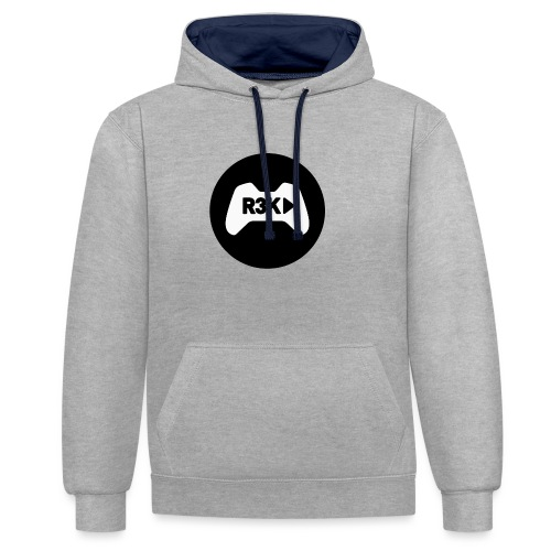 R3K Play Logo - Contrast Colour Hoodie