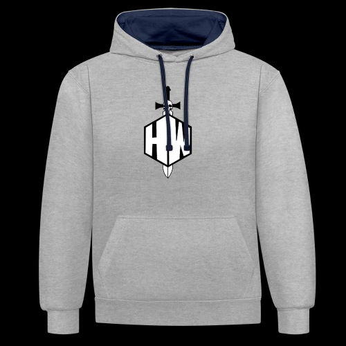 Black and White Logo - Contrast Colour Hoodie