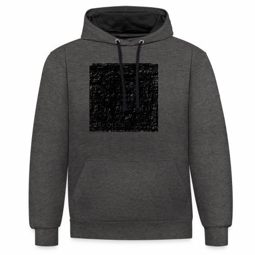 Kritzel-Design - Kontrast-Hoodie