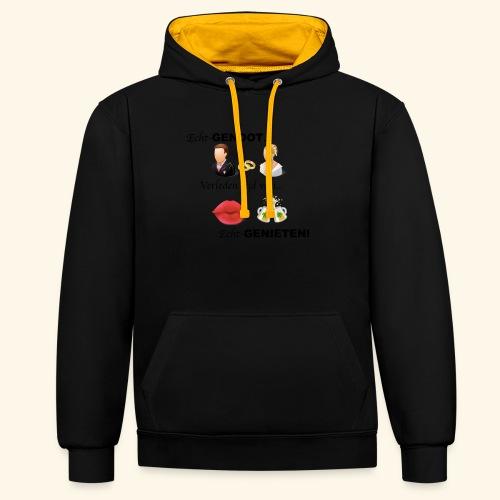 Echt-genoot, verleden tijd van ECHT-GENIETEN - Contrast hoodie