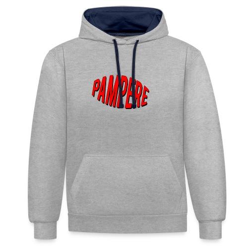 pampere - Bluza z kapturem z kontrastowymi elementami