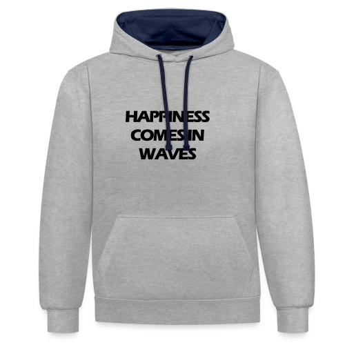 Happiness comes in waves - Kontrastluvtröja