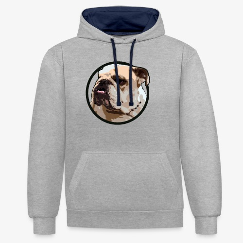 Bulldog - Contrast Colour Hoodie
